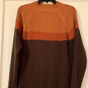 Relativity Ribbed Color Block Sweater